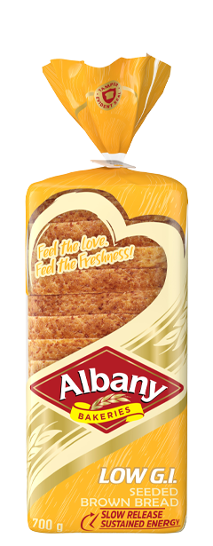 Albany Low Gi 700g Seeded Brown Bread