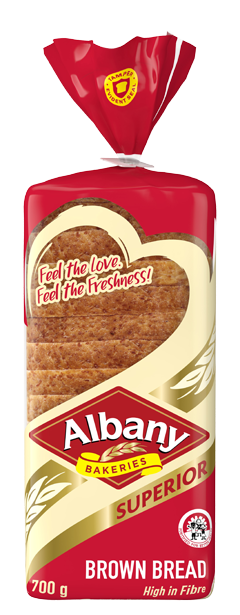 Albany Superior 700g Brown Bread