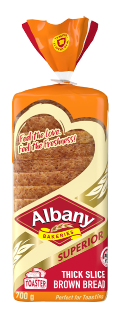 Albany Superior 700g Thick Slice Brown Bread