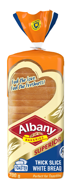 Albany Superior 700g Thick Slice White Bread