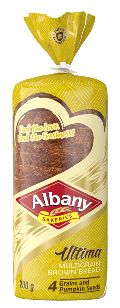 Albany Ultima 700g Multigrain Bread