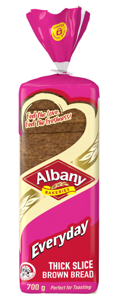 Albany Everyday_700g Thick Slice Brown Bread