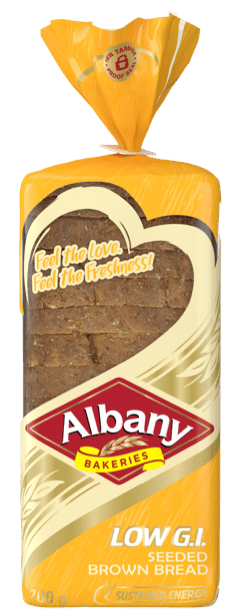 Albany Low GI_700g Seeded Brown Bread