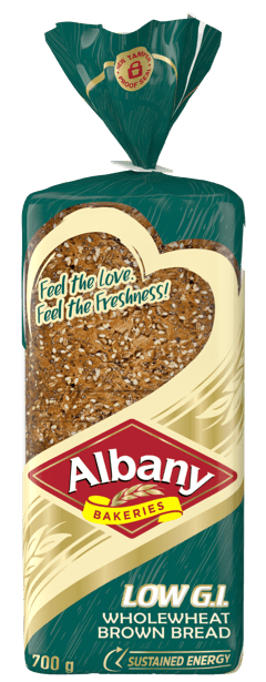 Albany Low GI_700g Wholewheat Brown Bread