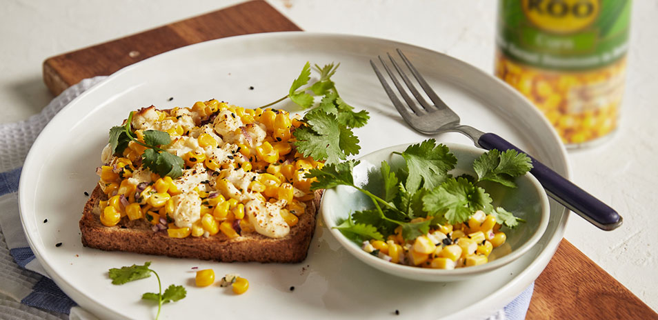 Koo sweetcorn toast